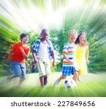 group of children playing... | Shutterstock . vector #227849656