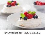 Pavlova Meringue Cake With...