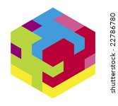 vector puzzle cube | Shutterstock .eps vector #22786780