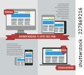 fully responsive flat web... | Shutterstock .eps vector #227869216