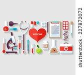 medical concept. flat design. | Shutterstock .eps vector #227872072