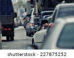 traffic congestion russia | Shutterstock . vector #227875252