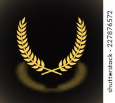 gold award laurel wreath with ... | Shutterstock .eps vector #227876572