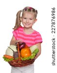 a smiling little girl with a... | Shutterstock . vector #227876986