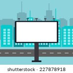 empty billboard in the city... | Shutterstock .eps vector #227878918