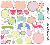 colored doodles label badges... | Shutterstock .eps vector #227879848