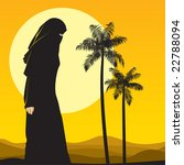 arabian woman in sahara   Shutterstock .eps vector #22788094