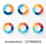 3  4  5  6  7  8 circle arrows... | Shutterstock .eps vector #227888002