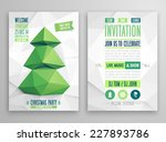christmas flyer   geometric... | Shutterstock .eps vector #227893786