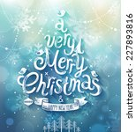 christmas card. vector... | Shutterstock .eps vector #227893816