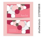 business card design. vector   Shutterstock .eps vector #227898808