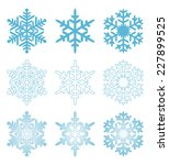 blue snowflakes | Shutterstock . vector #227899525