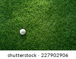 golf ball on green grass in... | Shutterstock . vector #227902906