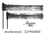 mascara brush strokes  beauty... | Shutterstock .eps vector #227903005