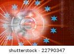digital illustration of dollar... | Shutterstock . vector #22790347