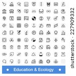 education and ecology icons set ... | Shutterstock .eps vector #227909332