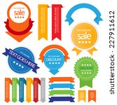 web sale badges seals banners.... | Shutterstock .eps vector #227911612