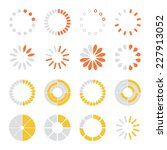 loading and buffering icons set.... | Shutterstock .eps vector #227913052