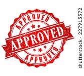 approved vector stamp | Shutterstock .eps vector #227915572