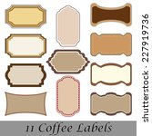 set of vector coffee labes on... | Shutterstock .eps vector #227919736