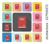book icon color set vector... | Shutterstock .eps vector #227920372