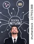 social network. handsome young... | Shutterstock . vector #227931388