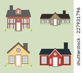 abstract cute houses on a light ... | Shutterstock .eps vector #227931796