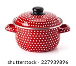 Retro Red Kitchen Pot With...