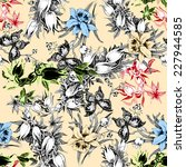 colorful iris seamless pattern... | Shutterstock . vector #227944585