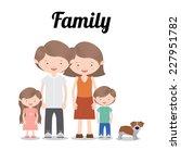 family design over white... | Shutterstock .eps vector #227951782