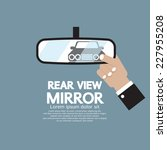 car's reflection in rear view... | Shutterstock .eps vector #227955208