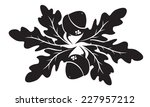 design of oak leaves and acorns | Shutterstock .eps vector #227957212