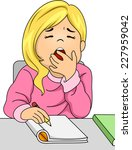illustration featuring a girl... | Shutterstock .eps vector #227959042