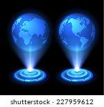 technology background. vector... | Shutterstock .eps vector #227959612