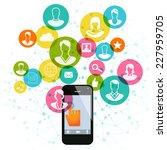 smart phone computing | Shutterstock .eps vector #227959705