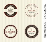 abstract bakery objects on a... | Shutterstock .eps vector #227965096