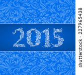 elegant blue banner for year... | Shutterstock .eps vector #227965438