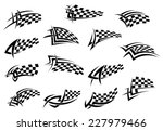 racing sport checkered flag...