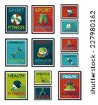 sport poster flat banner design ... | Shutterstock .eps vector #227980162