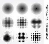 halftone circles vector set. | Shutterstock .eps vector #227980252