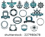 set of nautical or marine... | Shutterstock .eps vector #227980678