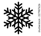 snowflake silhouette   Shutterstock . vector #227987626