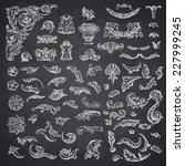 set of vector vintage baroque... | Shutterstock .eps vector #227999245