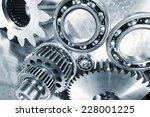 industrial cogwheels and ball... | Shutterstock . vector #228001225
