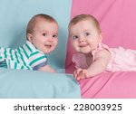 brother and sister   twins... | Shutterstock . vector #228003925