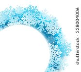 winter background with blue... | Shutterstock . vector #228004006