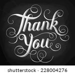 thank you. hand lettering.... | Shutterstock .eps vector #228004276