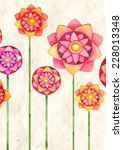 background with flowers  | Shutterstock . vector #228013348