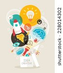 creative idea think out of the...   Shutterstock .eps vector #228014302
