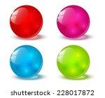 set of color glossy balls | Shutterstock . vector #228017872